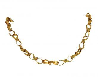 Handgemaakt 14 karaat geelgouden collier