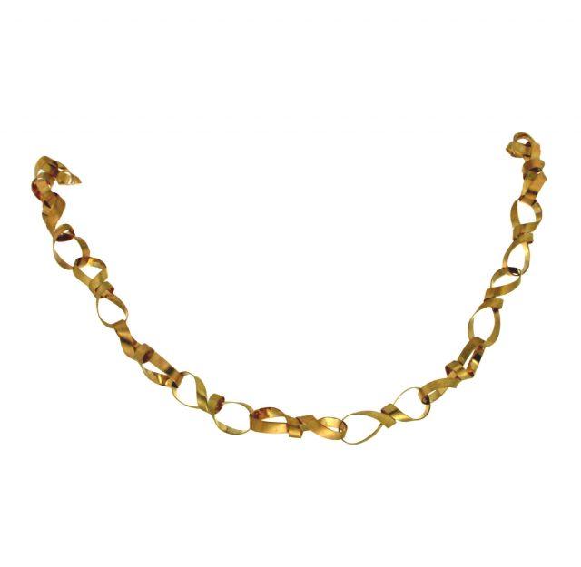 Geelgouden collier handgemaakt