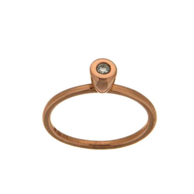 Rosé gouden ring met Diamant
