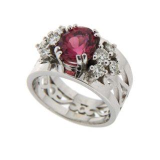Ring met Diamant en Toermalijn