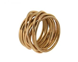 Rosé gouden Endless Rope ring