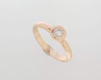 Roségouden ring met diamant