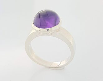 Zilver ring met Amethist