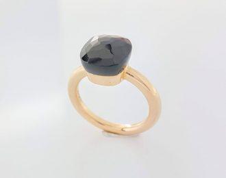 14 karaat rosé gouden ring met granaat