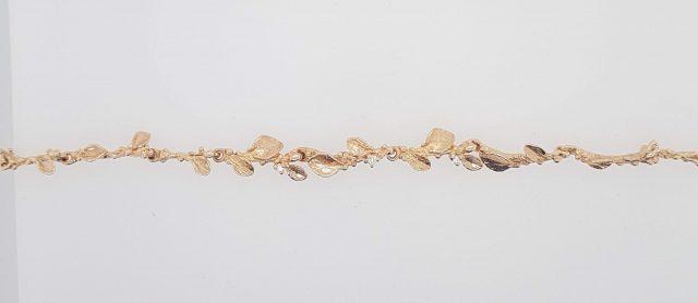 18 Karaat rosé gouden armband van blaadjes