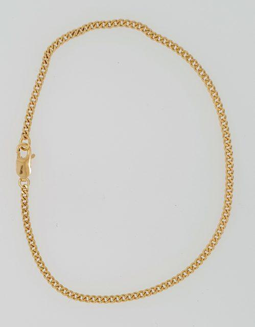 Gouden gourmet armband / occasion
