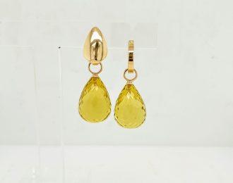 Gouden creoolhanger Lemon quarts