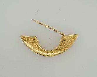 14 karaat gouden handgemaakte broche en brilhanger, model Golf.