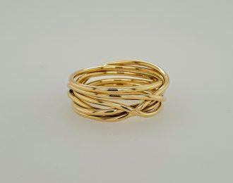 14 karaat gouden Endless rope ring