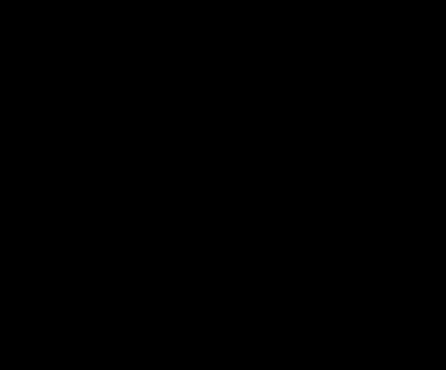 14 Karaat witgouden brede fantasie ring met smeltranden